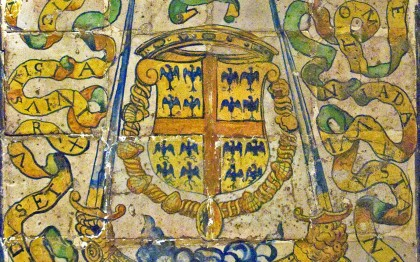 Tiles with the Arms of Anne de Montmorency, Constable of France