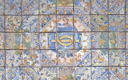 Tiles from the Ornamental Paving in the Chapel of La Bâtie d'Urfé (Loire)