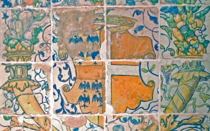 Tiles with the Coat of Arms of Madeleine de Savoie, wife of Anne de Montmorency