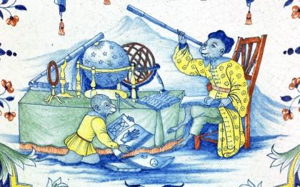 Garde-robe ou chaise de commodité, Le Singe astronome